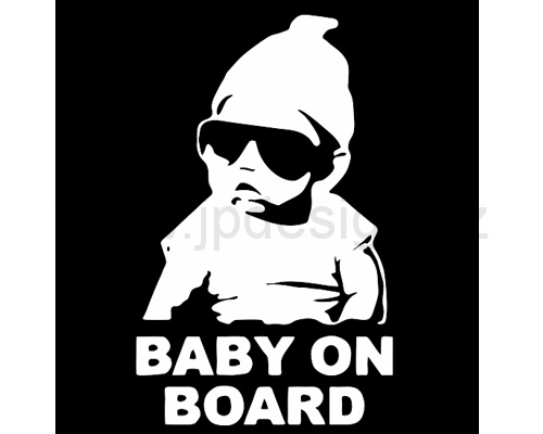 Samolepka Baby on board 185x110 mm