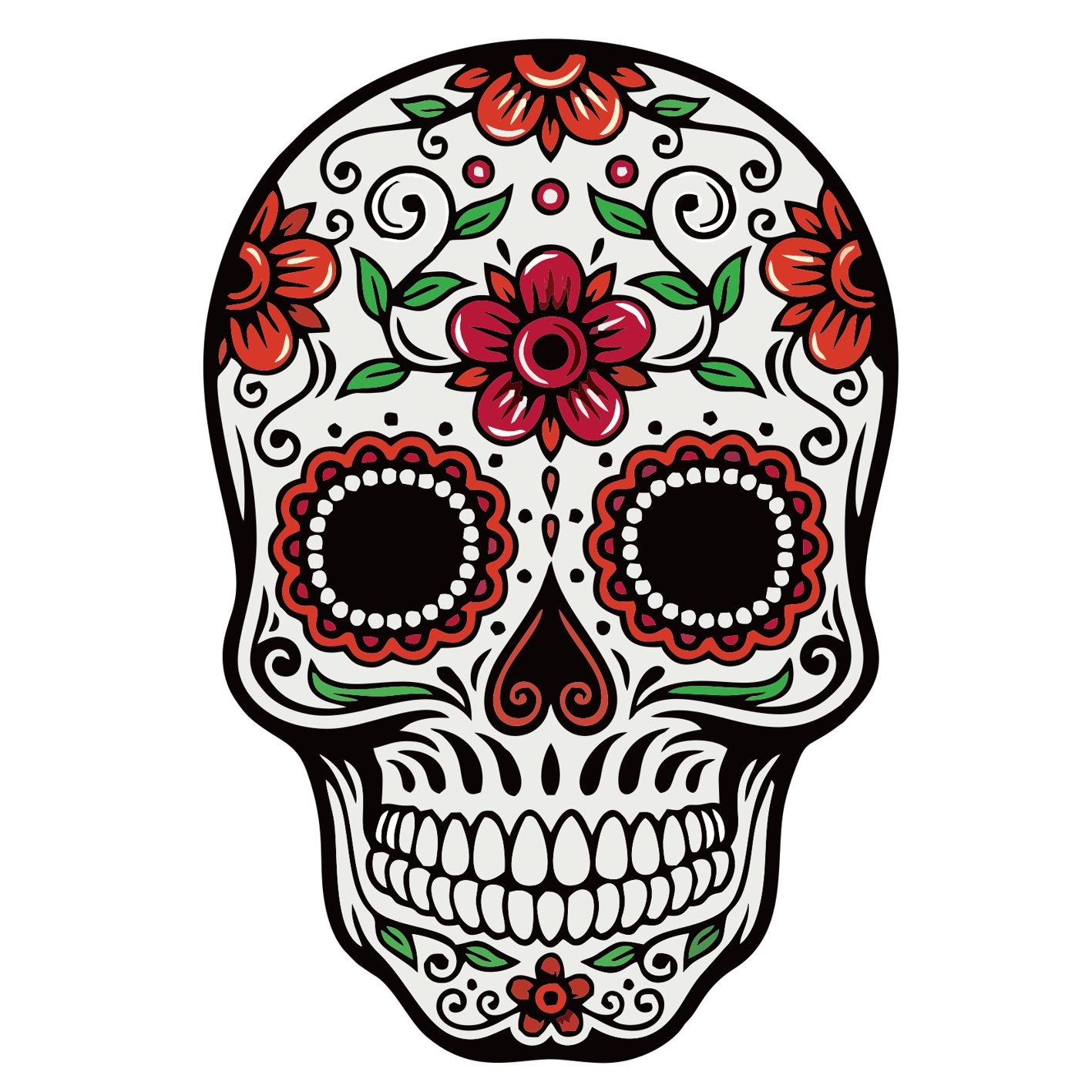 Samolepka Day of the dead rose sticker
