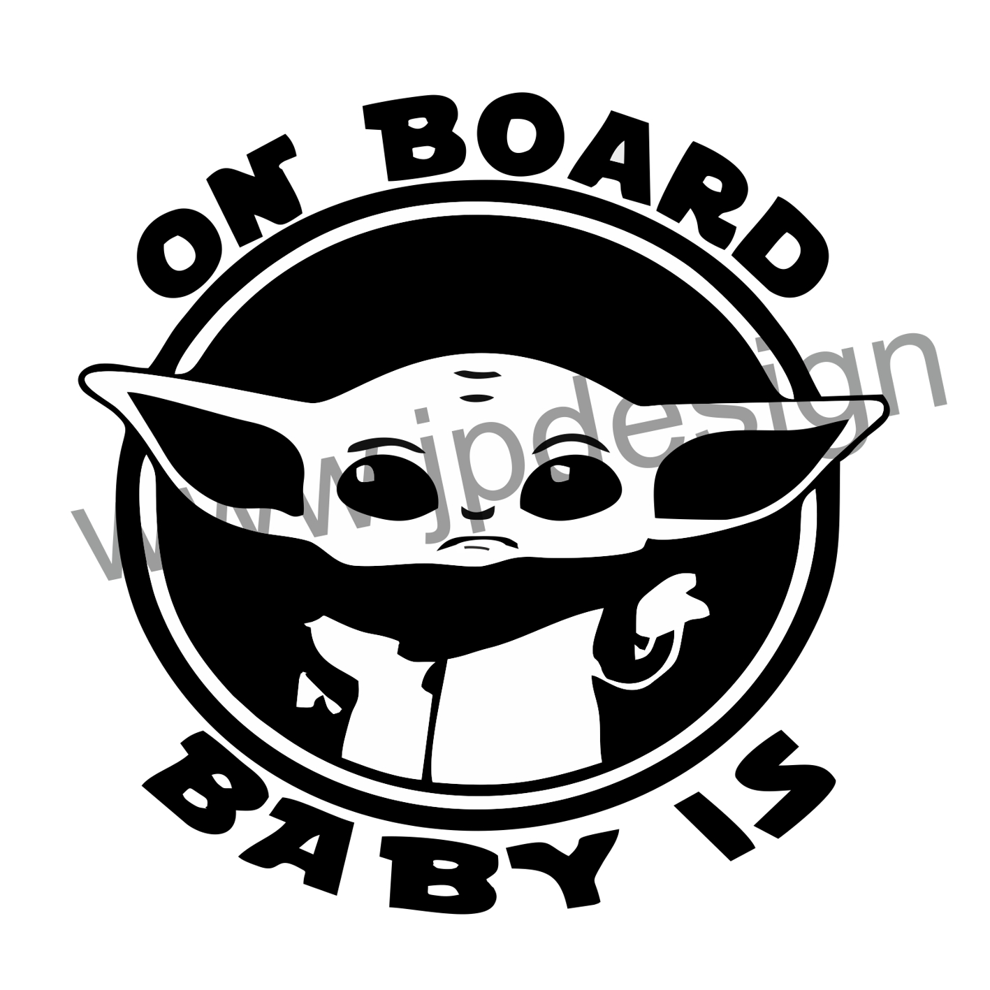 Samolepka On board baby is